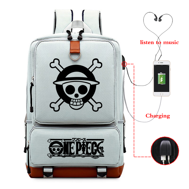 Japanese Style Backpack Anime One Piece Backpacks Large Capacity Students Travel BACKPACK Computer Bag Usb Charging  Bagpack