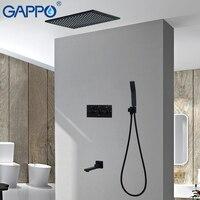GAPPO смеситель для душа водопад кран Набор душа syatem Ванна нажмите настенный для душа Смесители ванная комната Термостатические вентили