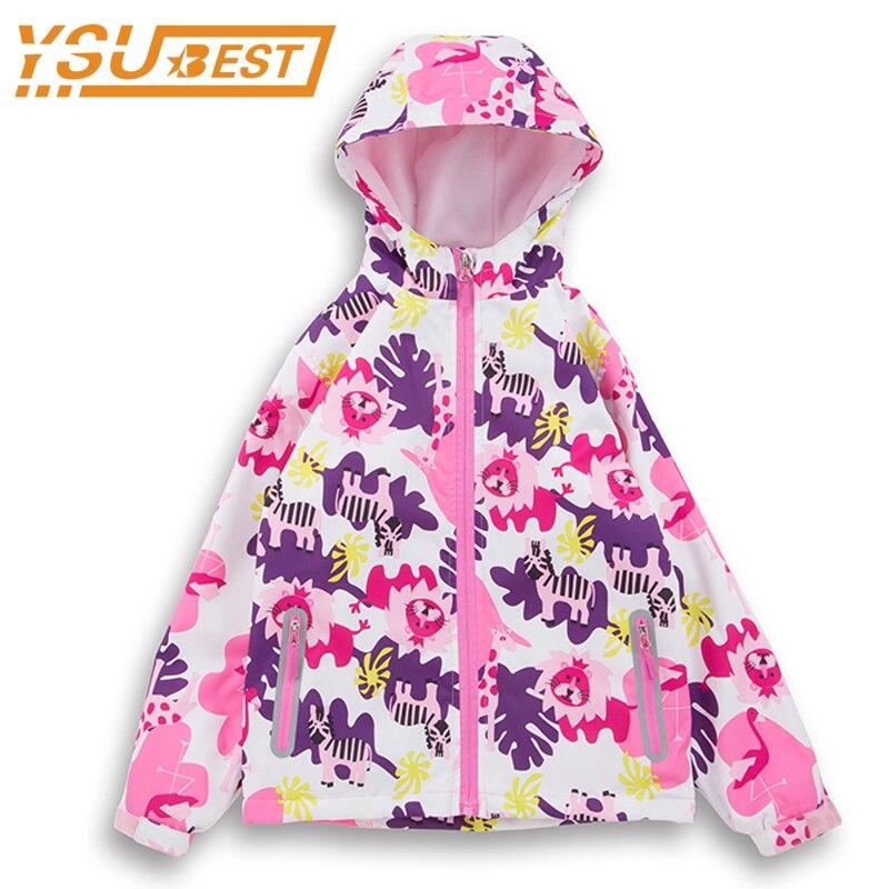 Children Girls Jackets 2018 Spring Sport jacket Kids Casual Windbreaker For Girls Outerwear Hoodies Double-Deck Waterproof Coat