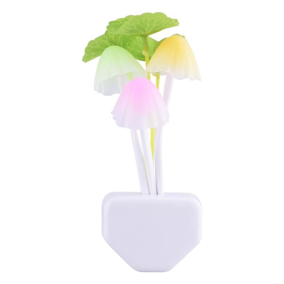 Novelty led night lights eu us plug light sensor control for Light up flower lamp