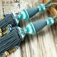 XWL Elegant 1Pair Ropes Trim Curtain Hanging Balls Tiebacks Hook Curtain Accessories Tassel Fringe Bandage Lashing Bind Decor