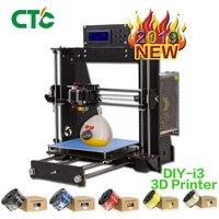 CTC stampante 3d Reprap Prusa i3 DIY black color Wood frame Power Failure Resume Printing High Precision 3d Printer