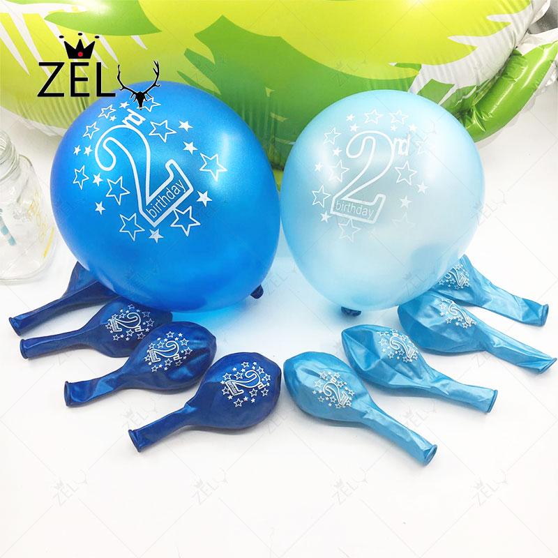 zljq unids decoracin fiesta de cumpleaos de globos de ltex beb aos de edad