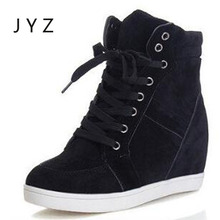 Fashion New Womens Shoes Casual Boots Wedges Shoe Leisure High Tops Lady aa0984