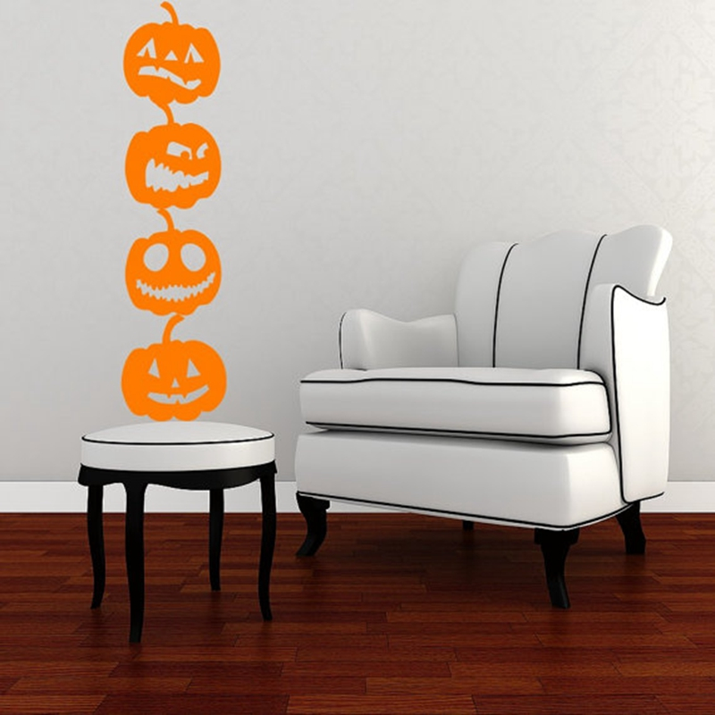 4 pack/lote calabaza vinilo Wall Art Decal Adhesivos, diy decoración ...