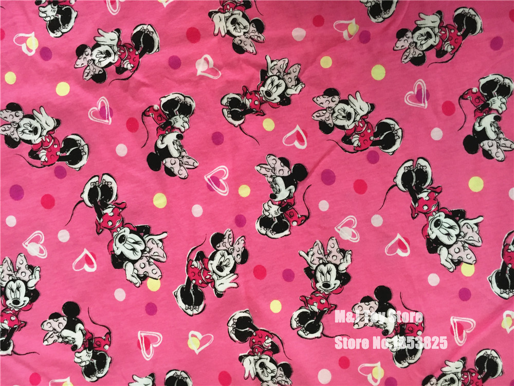 100*170 cm Cartoon rose Mickey Minnie Maus Stricken Baumwolle Stoff ...