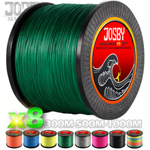 JOSBY 300M 500M 1000M  8 Strands 10-78LB New PE Braided Fishing Wire Multifilament Super Strong Fishing Line Japan Multicolour