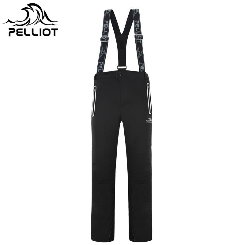 PELLIOT marca 2017 pantalones de esquí impermeable Snowboard pantalones de  invierno transpirable térmico de algodón acolchado 4a755c0b24e
