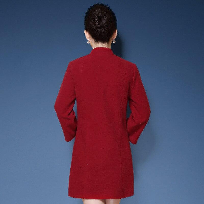 Broderie Black De Laine Chinois Rouge Vintage Coat En Les Femmes Taille 5xl Manteau Longs 2018 Grande Noir Gamme Pour Coat Haut D'hiver red Manteaux FqtUxwRU
