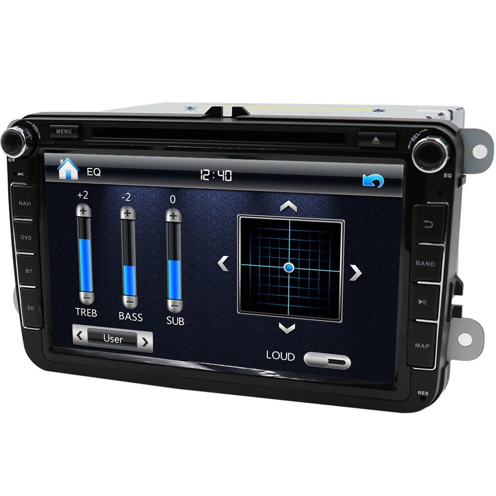 Eunavi 2 DIn samochodowy odtwarzacz dvd 8 'hd dla VW polo gti GOLF 5 6 MK5 MK6 JETTA PASSAT B6 Touran Sharan z radiowa nawigacja gps RDS