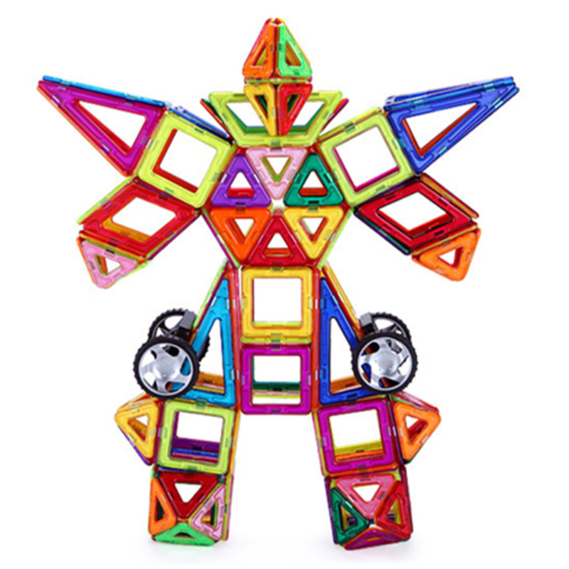 147 pcs 표준 크기 자기 장난감 아이 교육 장난감 abs 플라스틱 크리 에이 티브 벽돌 자기 빌딩 블록 어린이위한 선물-에서블록부터 완구 & 취미 의  그룹 3