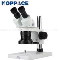 KOPPACE Binocular Stereo Zoom Microscope WF10x Eyepieces Zoom Objective 2X 4X LED Light Source Cellphone Repairs Microscope