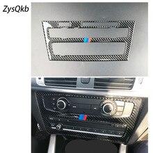 Для bmw X3 F25 X4 F26 внутренняя отделка углеродного волокна кондиционер CD панель управления украшение автомобиля укладки аксессуары