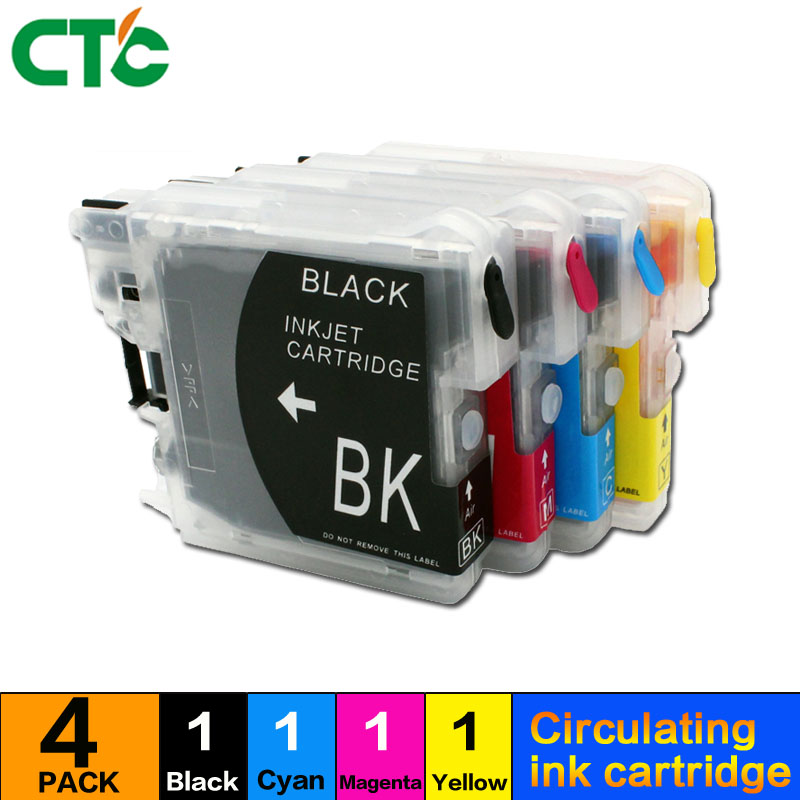 4X Compatible with brothers mfc-290c 250C filling ink box 490CW 790CW 795CW J615W cartridge