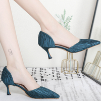 XZ004 New Pointed Toe High Heels Women Pumps Sexy Women Shoes 6CM Heels Lady Shoes Female Satin Party Wedding Shoes Women Sandal