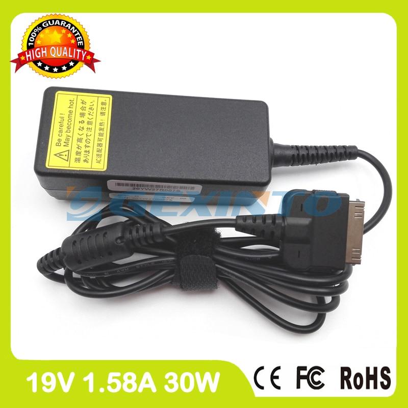 все цены на  19V 1.58A 30W laptop charger FPCAC118 ADP-30VH A for Fujitsu Slate Q550 Stylistic M532 Tablet pc without ac plug  онлайн