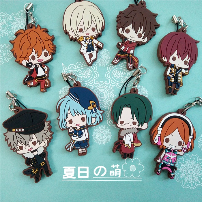 Ensemble Stars Anime Idol High School Game Team Trickstar Bean Eye Ver Japanese Rubber Keychain ensemble stars 2wink cospaly shoes anime boots custom made