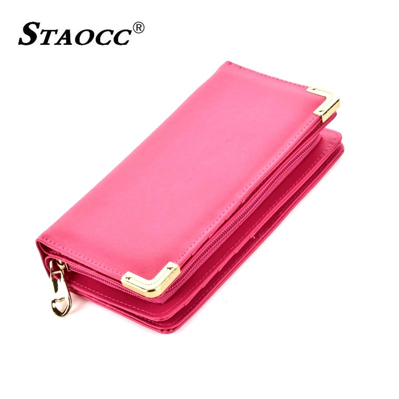 Large Capacity Women Wallet Long Leather Clutch Purse Hand bag Wallet Coin Purse Card Holder Cell Phone Purse Female Big Wallets