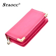 Large Capacity Women Wallet Long Leather Clutch Purse Hand bag Wallet Coin Purse Card Holder Cell Phone Purse Female Big Wallets 2018 new women wallet long genuine leather ladies purse phone holder female clutch big capacity for women coin card purse
