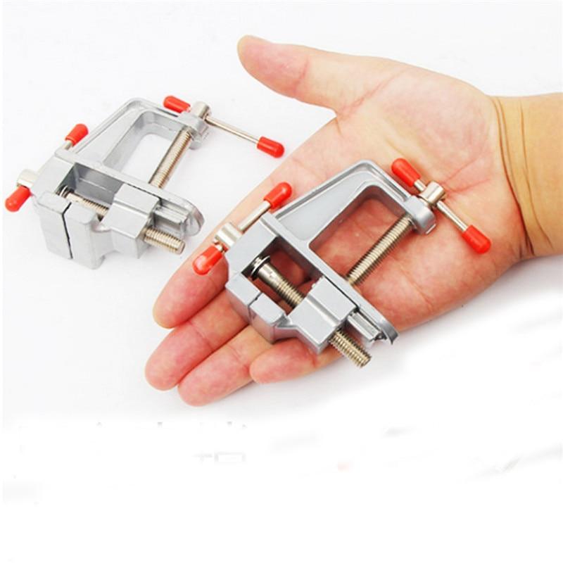 Mini Table Vise Aluminium Alloy Bench Swivel Lock Clamp Vice Craft Jewelry Hobby Vice for DIY Craft model Fixed Repair Tool