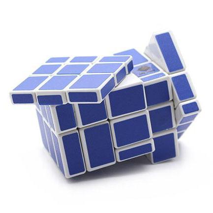 Ct Cube torção 5 x 5 x 3 espelho cubo mágico de plástico branco e azul adesivo de quebra-cabeça quebra-cabeça de brinquedo para crianças