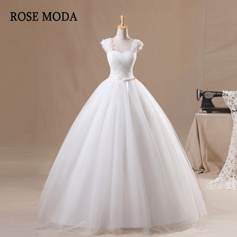 Aliexpress.com : Buy Rose Moda Cap Sleeves Tulle Wedding