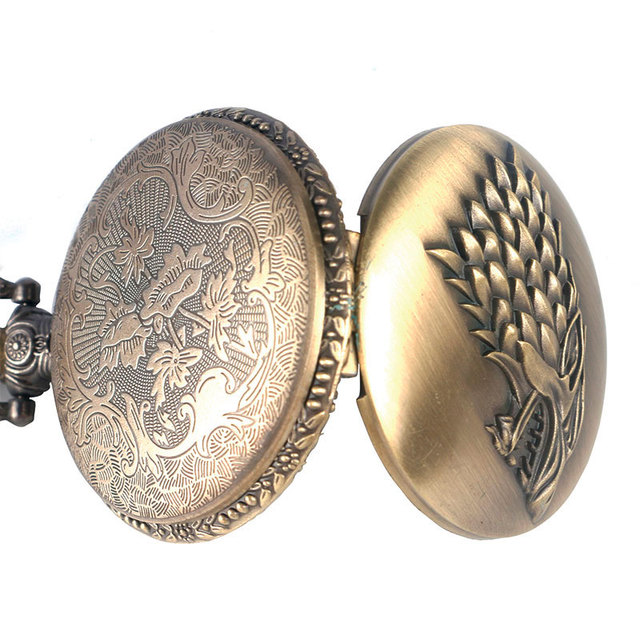Game of Thrones, House Stark, Retro Antique Pocket Watch