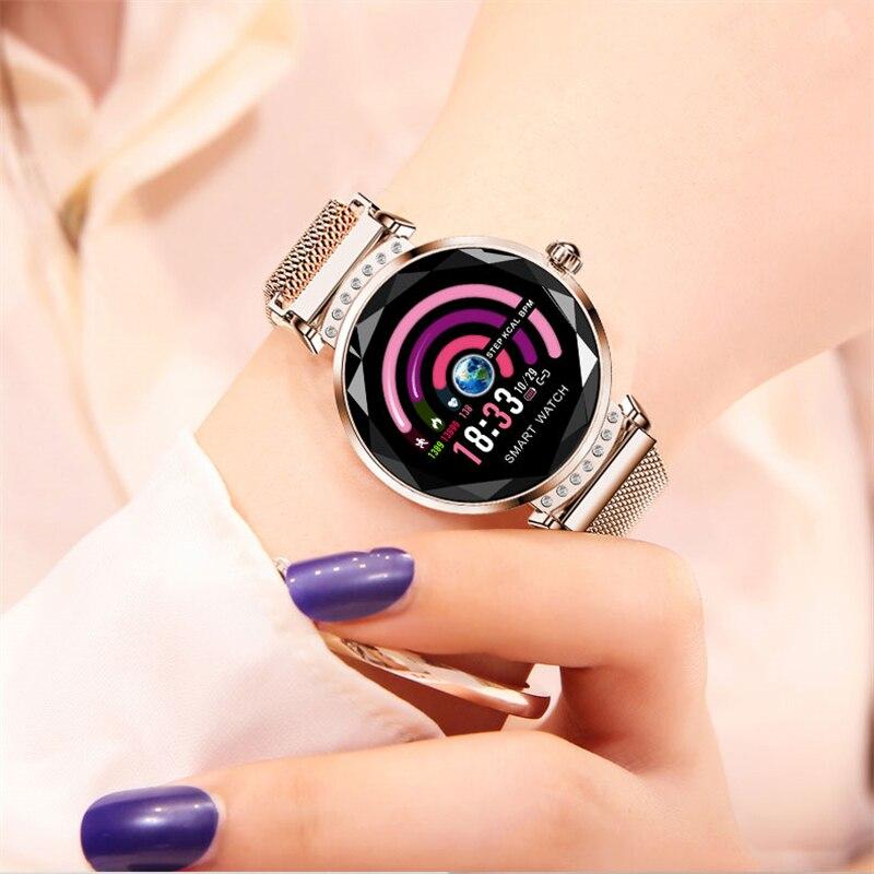 OGEDA Femmes de mode sport santé surveillance smart watch Coeur taux sang pression IP67 étanche smart watch femme Cadeau cadeau