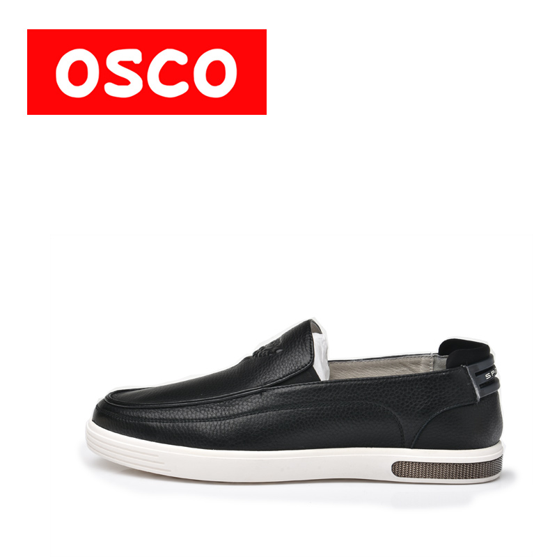 OSCO ALL SEASON New Men Shoes Fashion Men Casual COW LEATHER  loafers Shoes #A4502 2017 new spring imported leather men s shoes white eather shoes breathable sneaker fashion men casual shoes