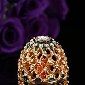 Image 4 - QIFU oeuf de Style russe de luxe, avec ornements artisanaux de petit château, décoration