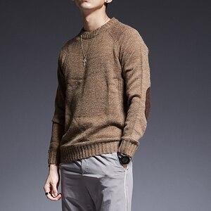 Image 4 - 2020 חדש אופנה מותג סוודר עבור Mens O צוואר Slim Fit מגשרי סריגה מוצק צבע סתיו קוריאני סגנון מקרית Mens בגדים