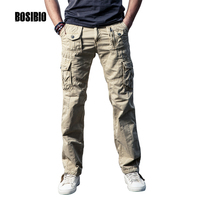 Bosibio 2017 New Men Casual Pant Men Solid Thin Breathable Sweatpants Man Summer Large Size Multi