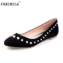 Fashion Women Shoes Woman Flats high quality Casual Comfortable pointed toe Beading Women Flat Shoe New Flats Size 35-46 B254