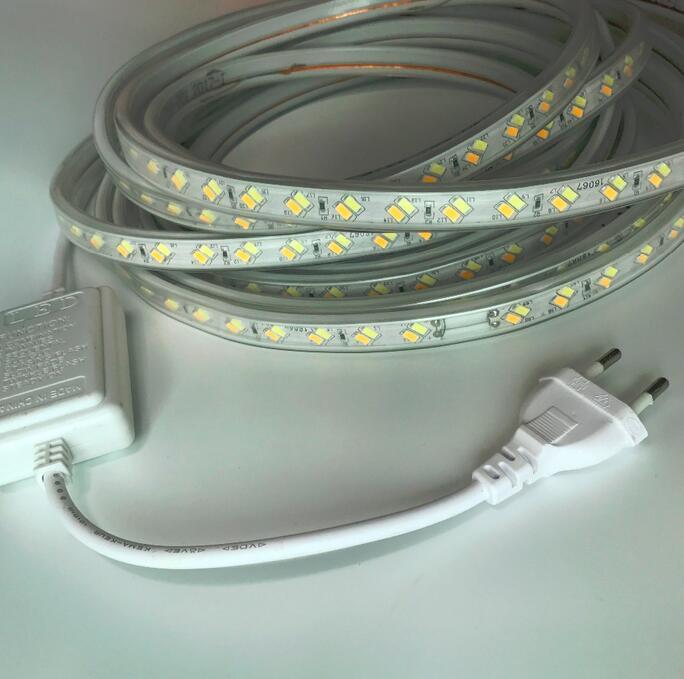 220 В 120 светодио дный s/m затемнения теплый белый гибкие светодио дный полосы 5730 5630 лента SMD свет Водонепроницаемый для украшения дома