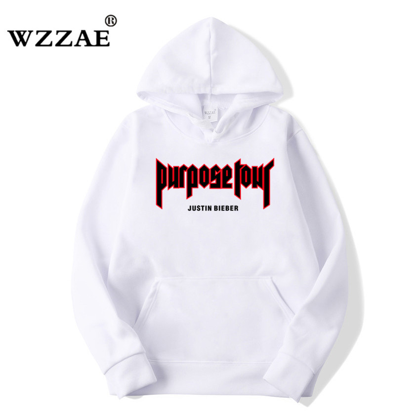 aef06f84 WZZAE 2018 New Justin Bieber Purpose Tour Sweatshirts Men Hip Hop ...
