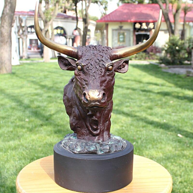 2019 maison salon hall haut décor ART 37 CM de haut espagnol Matador corrida toreo bon chanceux taureau bronze statue décoration