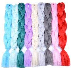 Full star 1pcs synthetic black grey hair high temperature fiber ombre braiding hair bundles 24 inch.jpg 250x250