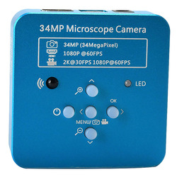 ABKT-34Mp 2K 1080P 60Fps Hdmi Usb Industrial Electronic Digital Video Soldering Microscope Camera Magnifier For Phone Pcbtht Rep