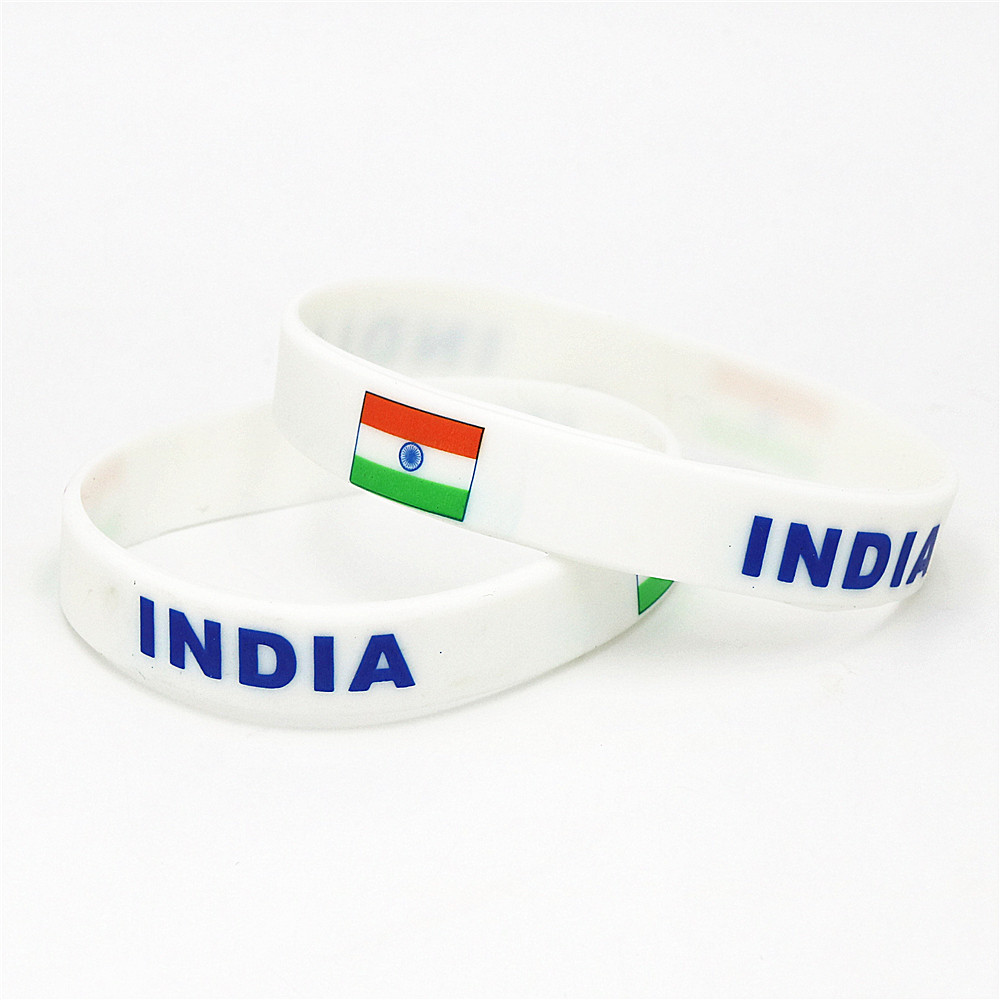 Wrist Bands India indian Flag face tattoo sticker silicone band Bracelet