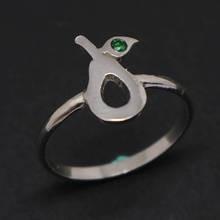 Super cute silver Avocado ring