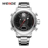 WEIDE Мода Искусственная кожа Для мужчин s аналоговые кварцевые часы Для мужчин наручные часы 2019 Для мужчин s часы Топ Роскошные Брендовые повс