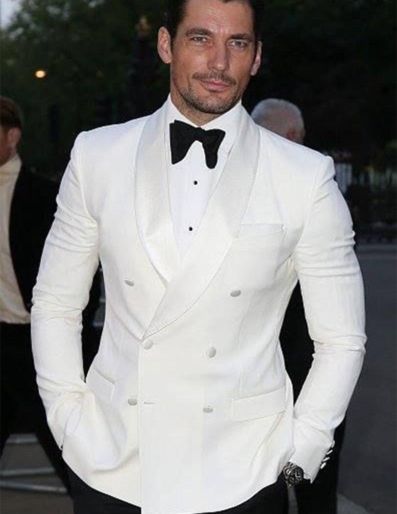 White Double Breasted Tuxedo Jacket