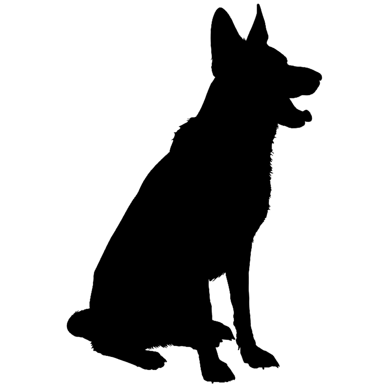 CS 1089 22 3 15cm German Shepherd Dog funny car sticker vinyl decal silver black for auto car stickers styling car decoration in Car Stickers from Automobiles Motorcycles