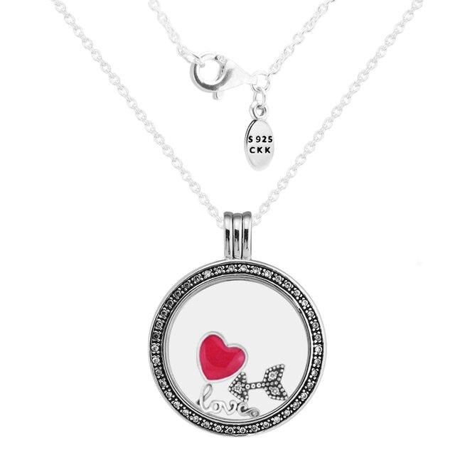Large fandola floating locket silver pendant and necklaceclear cz large fandola floating locket silver pendant and necklaceclear cz with inner love feelings parts aloadofball Choice Image