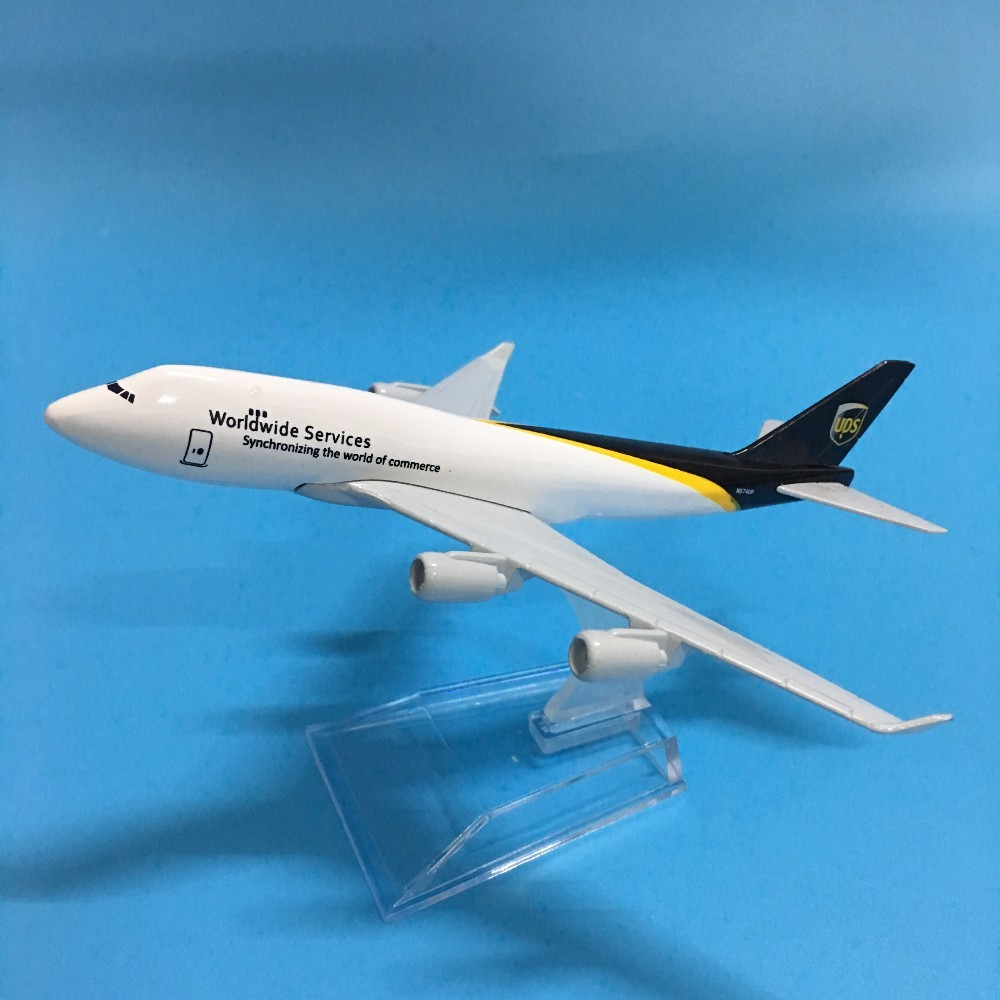 JASON TUTU 16cm Plane Model Airplane Model UPS Airlines Airplanes Boeing 747 Aircraft Model 1:400 Diecast Metal Plane Toy Gift