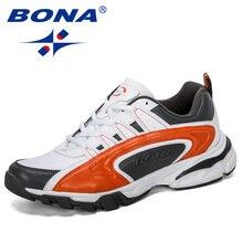 BONA 2019 ออกแบบใหม่ผู้ชายรองเท้าวิ่งกีฬารองเท้ากลางแจ้งรองเท้าผ้าใบ Trainers Zapatos De Hombre รองเท้าชาย