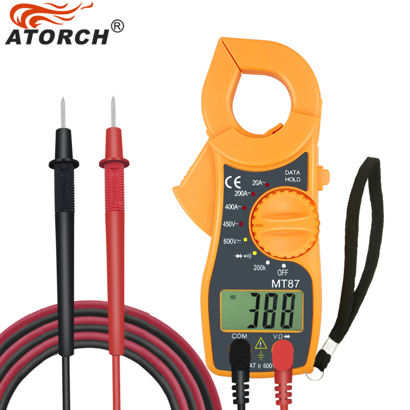 ATORCH Digital Clamp Meter Multimeter DC AC Voltage Current Tongs Resistance Amp Ohm Tester Electronic Medidor Multimetre Tools clip on ammeter digital clamp meter current voltage resistance test clamp meter