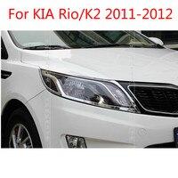 ABS Chrom Front scheinwerfer Lampe Abdeckung Für KIA Rio/K2 2011-2012 Auto-styling