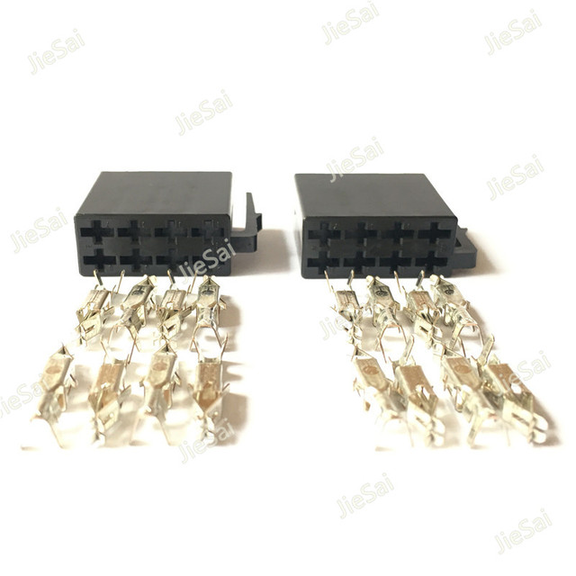 Universal Car Radio ISO Connector Female Car Radio Connector 8 Pin ...
