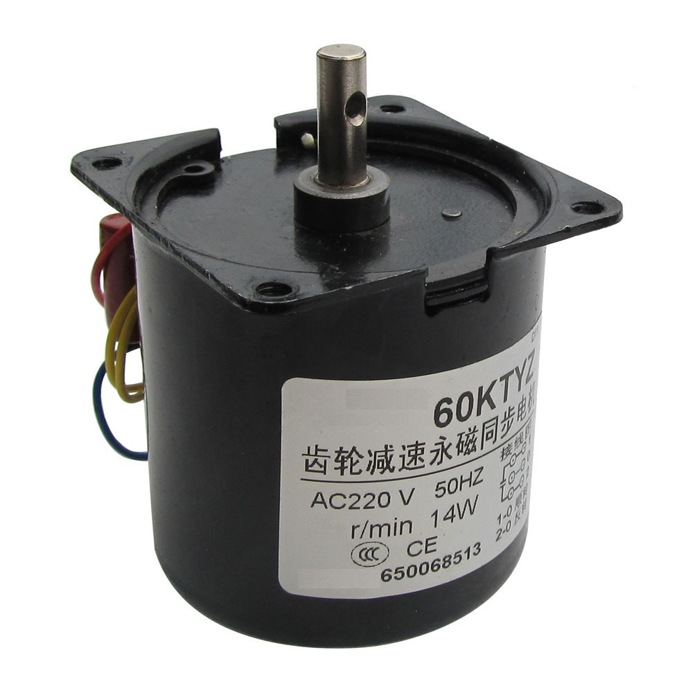 new 60KTYZ gear synchronous motor micro motor / ac 30r / min 220V 14W 220v 14w 20rpm ac synchronous motor ac motor gearbox motor free shipping